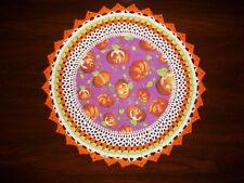 New Handmade Round Crochet Doily Halloween/Jack-O-Lantern/Pumpkins