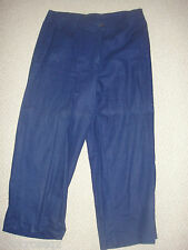 CHELSEA STUDIO * Navy Blue CAPRI Cropped PANTS * 8 / 8P * Career / Casual * EUC