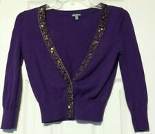 Charlotte Russe Womens Shrug 100 % Cotton  Size XS Top Sequins Sweater