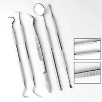 Stainless Steel Dental Teeth Kit Oral Care Deep Cleaning Probe Tweezers Tools