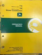 John Deere Operators Manual 710 & 720 MoCo #Ome95633 Used