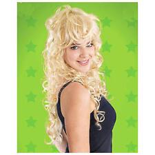 Mesdames long cheveux bouclés perruque Dolly Parton Punk Rock Chick 80's robe fantaisie
