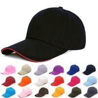 Men Women New Black Baseball Cap Snapback Hat Hip-Hop Adjustable Bboy Caps