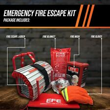 Emergency Fire Safety Escape Kit - Includes Smoke, Respirator, Mask,Fire Blanket