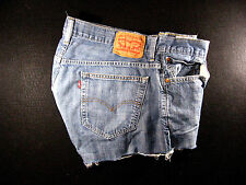 Levis Vintage 569 CUTOFF JEAN SHORTS Cut Off W 35 MEASURED Loose High Waisted