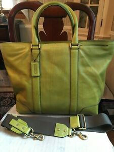 COACH BLEECKER BUSINESS TOTE BAG--EXTRA LARGE--STYLE 70600--LIME GREEN