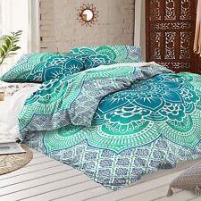 King Size Indian Mandala Hippie Duvet Quilt Cover Bohemian Bedding 2 Pillowcases