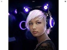 Wired Cat Ear Headphones Purple