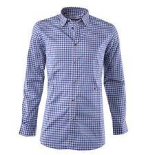 Karierte Figurbetonte Herren-Freizeithemden & -Shirts mit Langarm-Ärmelart ohne Mehrstückpackung