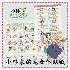 Kobayashi-san Chi no Maid Dragon Cute Diary Planner Calendar Book Stickers Decor