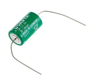 Varta CR 1/2 AA CR14250 L14250 Tagged Axial leads 3v Lithium Battery