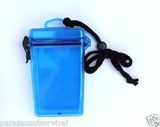 Large Waterproof Storage Container with Lanyard Blue Camp Fits Most Smart Phones