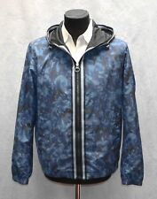 F0 NWT MICHAEL KORS Blue Striped Trim Floral Camouflage Hooded Jacket Sz L $398