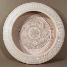 """1989 DAVID GREENBAUM Profusely Carved & Decorated Studio Pottery 14"""" Low Bowl"""