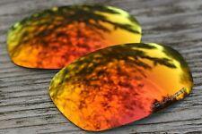 Polarized Orange Red Mirrored Sunglass Lenses for Oakley Split Jacket Dark Tint