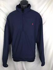 RALPH LAUREN Polo Golf Men's Vented 1/2 Zip Pullover Jacket XL Navy Blue Engrave