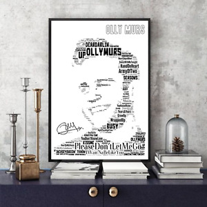 Olly Murs Songs Portrait /Keepsake/Gift/Collectable signed