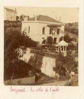 Algérie, Alger, Bouzareah, Villa de l'oncle  Vintage albumen print. Vintage