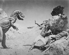 1977's Planet Of Dinosaurs allosaurus & brontosaurus menace b/w 2-7x10 scene set
