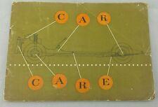 Castrol. CAR CARE. Booklet. Maintenance guide. 1960. Classic & Vintage Cars,