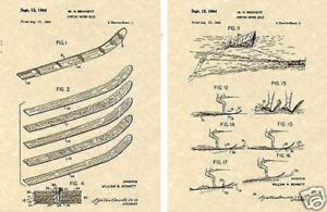 1964 CYPRESS GARDENS WATERSKIS Patent Art Print READY TO FRAME water ski