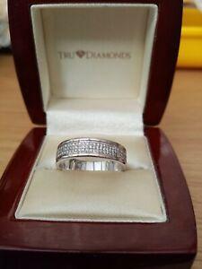 Men's 18ct White Gold Diamond Ring