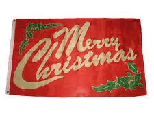 3x5 Merry Christmas Mistletoe Lettering Flag 3'x5' House Banner Fade Resistant