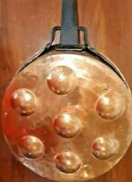 Antique Tinned Copper Egg Pan with Handle - Americana - Hand Forged
