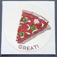 Vintage CTP 77 Scratch 'N Sniff reward label - PIZZA 1977 matte Sticker