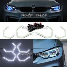 4 360SMD White For BMW Concept M4 Iconic Style Headlight LED Angel Eye Halo Ring