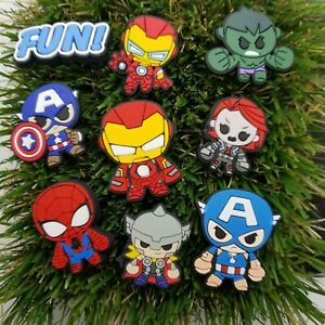 12 Pcs Avengers Superhero, Marvel Shoe Croc Charms