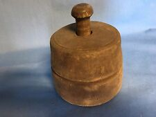 Antique Wooden Butter Press Mold PA Americana Carved Leaf & Sheaf See All Pics