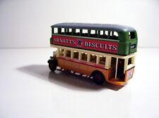 1930 Leyland Double Decker Bus Arnotts Custom Graphics Diecast Bus Length 100mm