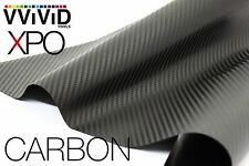 "VVIViD Black Carbon Fiber car wrap Vinyl 3"" x 4"" pro 3Mil decal bubble free film"