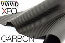 "VVIViD Black Carbon Fiber car wrap Vinyl 3"" x 4"" pro 3Mil decal sticker film"