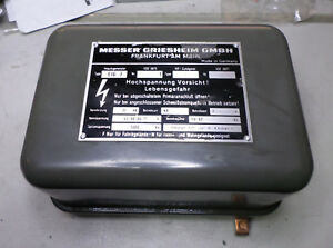 MESSER GRIESHEIM GMBH - IMPULSGENERATOR - 35vA HIGH FREQ TRANSFORMER - EJG 3