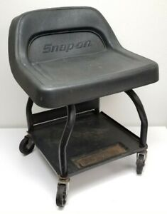 Snap-On Creeper Roller/Rolling Seat/Bench/Chair Black Vinyl/Steel JCH30 Vintage