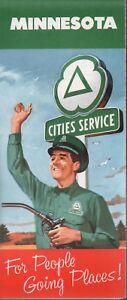 1960 Cities Service Road Map: Minnesota NOS