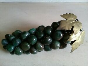 Vintage Polished Agate Bunch Of Grapes Artificial Fruit Ornament