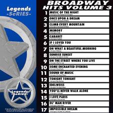 Broadway Musicals Legends Vol 3  Broadway Musical Karaoke CDG CDs NEW 3 Day Ship