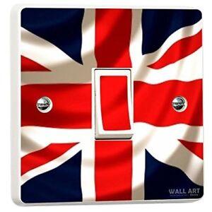 Union Jack UK British Flag Light Switch Sticker Cover Skin