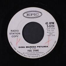 PAUL EVANS: Gina Marina Petunia / Little Miss Tease 45 (dj, xol)