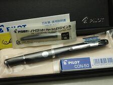 Pilot (NAMIKI) Capless Fermo Black Fine-nib 18K / with Converter (CON-50)