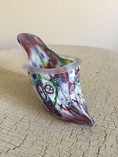 Millefiori Murano Venetian Italian Art Glass Show Slipper Vintage 1960's Glass