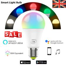 E27 Smart Light Bulb RGB WiFi Remote Control Lamp For Amazon Alexa Echo