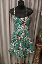 VINTAGE Style 50'S ~ Shoestring Straps ~ Palm Leaves  DRESS * Size 8 *  SALE !!