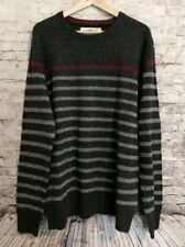 Urban Pipeline Wool Blend Sweater LARGE Gray Stripe New