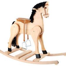 Schaukelpferd Massivholz Steigbügel Sattel Schaukeltier Kinderspielzeug Holz HL9