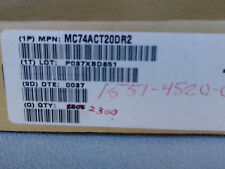 ON SEMI. MC74ACT20DR2 MOTOROLA NAND 2-Element 4-IN CMOS 14-Pin SOIC Qty-2800
