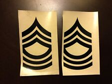 Vietnam US Army Rank Insignia Sticker Decals For Helmet Liners Master Sergeant